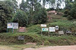 Lake Mutanda & Lodging Signs