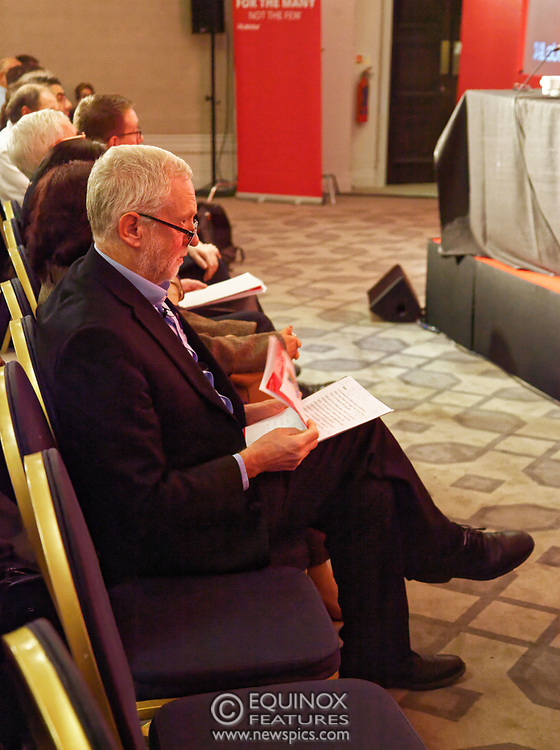 London, United Kingdom - 10 February 2018<br /> Leader of the Labour Party Jeremy Corbyn, speaking at the Labour Party's Alternative Models of Ownership Conference where he spoke about new 21st century forms of democratic ownership of industries.<br /> www.newspics.com/#!/contact<br /> (photo by: EQUINOXFEATURES.COM)<br /> Picture Data:<br /> Photographer: Equinox Features<br /> Copyright: ©2018 Equinox Licensing Ltd. +448700 780000<br /> Contact: Equinox Features<br /> Date Taken: 20180210<br /> Time Taken: 15484942