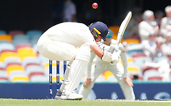 England's Stuart Broad ducks a short delivery during day two of the Ashes Test match at The Gabba, Brisbane.