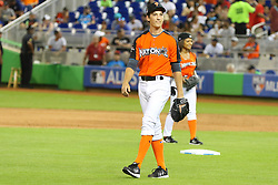Miles Teller participates in the 2017 MLB All-Star Legends & Celebrity Softball Game at Marlins Park in Miami, Florida. 09 Jul 2017 Pictured: Miles Teller participates in the 2017 MLB All-Star Legends & Celebrity Softball Game at Marlins Park in Miami, Florida. Photo credit: Ralph Notaro / MEGA TheMegaAgency.com +1 888 505 6342