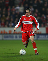 Photo: Andrew Unwin.<br />Hull City v Middlesbrough. The FA Cup. 06/01/2007.<br />Middlesbrough's Andrew Taylor.