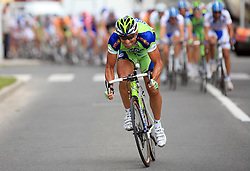 Francesco Chicchi of Italy (Liquigas) during 1st stage of the 15th Tour de Slovenie from Ljubljana to Postojna (161 km) , on June 11,2008, Slovenia. (Photo by Vid Ponikvar / Sportal Images)/ Sportida)