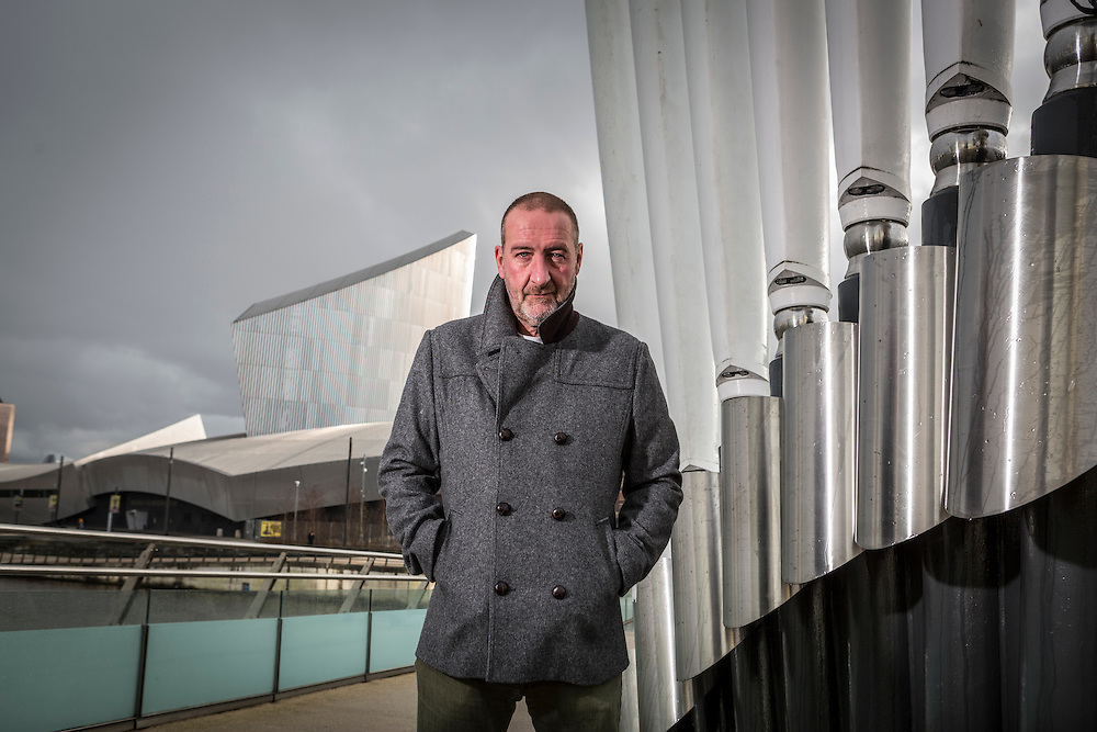 09/02/16 Salford - BBC 6 Music presenter Marc Riley pictured at Salford Quays and BBC Media City