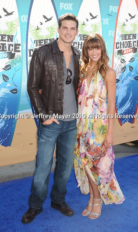 UNIVERSAL CITY, CA. - August 08: Rick Malambri and Sharni Vinson arrive at the 2010 Teen Choice Awards at Gibson Amphitheatre on August 8, 2010 in Universal City, California.