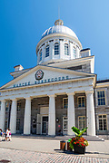 Exterior view of Bonsecours Market in the heart of Montreal, Quebec, Canada.