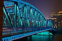 Chine, Shanghai, Garden Bridge ou pont Waibaidu sur le Bund //  China, Shanghai, Garden Bridge or Waibaidu Bridge on the Bund