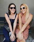 LOS ANGELES, CA - AUGUST 12: (EXCLUSIVE COVERAGE)  Lizzy Caplan and Busy Phillips attend the Jen Klein Day of Indulgence on August 12, 2018 in Los Angeles, California.  (Photo by Amy Graves)