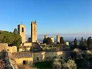 Winter in a small Tuscan town filled with ancient towers built by the local medieval movers and shakers.