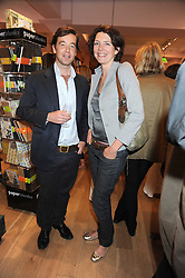 JAMES EVANS and THOMASINA MIERS at a party to celebrate the publication of Charlotte Eagar's book'The Girl in the Film'held at the Daunt Bookshop, Holland Park Avenue, London on 10th July 2008.NON EXCLUSIVE - WORLD RIGHTS