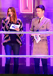 Lisa Snowdon and Dave Berry host Oxford Street Christmas lights switch at event hosted by Selfridges on Oxford Stree, London, United Kingdom. Tuesday, 12th November 2013. Picture by Nils Jorgensen / i-Images