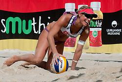 Simona Fabjan at Zavarovalnica Triglav Beach Volley Open as tournament for Slovenian national championship on July 29, 2011, in Kranj, Slovenia. (Photo by Matic Klansek Velej / Sportida)