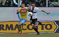 "Gabriel PALETTA (Parma), Christian MAGGIO (Napoli) <br /> Parma 04/03/2012 Stadio ""Ennio Tardini""<br /> Serie A 2011/2012<br /> Football Calcio Parma Vs Napoli<br /> Foto Insidefoto Alessandro Sabattini"