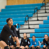 111314      Cayla Nimmo<br /> <br /> Navajo Prep Eagle, Jasmine Coleman (3) prepares to hit the ball in the State Championship pool game against Cuba held in Rio Rancho Thursday morning.