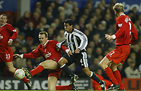 F.A CUP 4TH ROUND   LIVERPOOL V NEWCASTLE UNITED<br /> L'POOL'S DIETMAR HAMANN AND NOLBERTO SOLANO