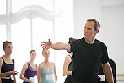 Kendall Eric Sparks, a retired professional danseur, instructs dancers during the audition for Bay Pointe Ballet, a new professional ballet company under the artistic direction of Bruce Steivel, at Alonzo King Lines Ballet in San Francisco, California, on June 2, 2013. (Stan Olszewski/SOSKIphoto)