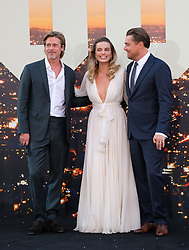 Once Upon a Time in Hollywood Movie Premiere. 22 Jul 2019 Pictured: Brad Pitt, Margot Robbie, Leonardo DiCaprio. Photo credit: MEGA TheMegaAgency.com +1 888 505 6342