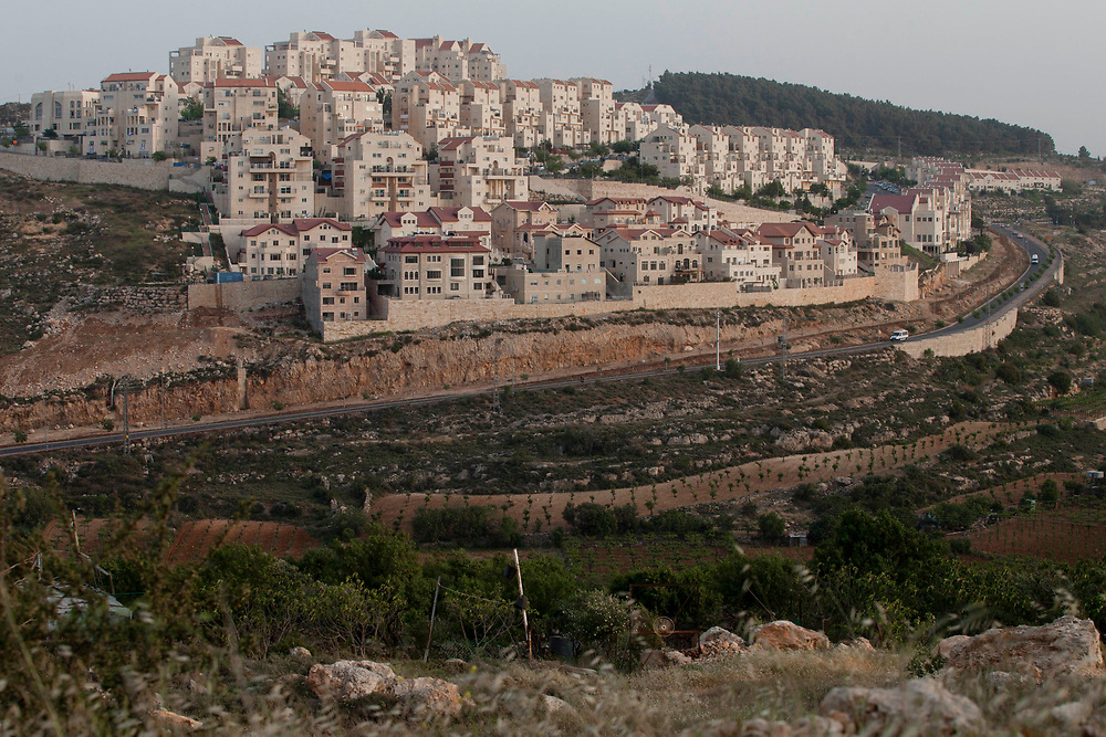 A general view of a neighborhood at the Jewish settlement of Efrat  in Gush Etzion, near the Palestinian West Bank town of Bethlehem, on May 2, 2012.