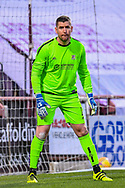 Neil Parry (#1) of Alloa Athletic FC during the SPFL Championship match between Heart of Midlothian FC and Alloa Athletic FC at Tynecastle Park, Edinburgh, Scotland on 9 April 2021.