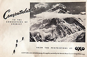 Mount Everest 1953 British first ascent advert - Oxo drinks