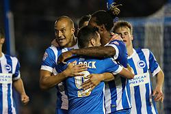 Goal, Brighton's Bobby Zamora scores, Brighton & Hove Albion 2-1 Bristol City - Mandatory byline: Jason Brown/JMP - 07966 386802 - 20/10/2015 - FOOTBALL - American Express Community Stadium - Brighton,  England - Brighton & Hove Albion v Bristol City - Championship