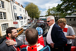 Majority Shareholder Steve Lansdown looks on during the Bristol City open top bus parade to celebrate winning both the League 1 and Johnstone's Paint Trophy titles this season and promotion to the Championship - Photo mandatory by-line: Rogan Thomson/JMP - 07966 386802 - 04/05/2015 - SPORT - FOOTBALL - Bristol, England - Bristol City Bus Parade.