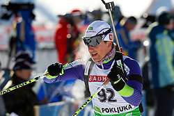 Peter Dokl of Slovenia during the Men 20 km Individual of the e.on IBU Biathlon World Cup on Thursday, December 16, 2010 in Pokljuka, Slovenia. The fourth e.on IBU World Cup stage is taking place in Rudno Polje - Pokljuka, Slovenia until Sunday December 19, 2010.  (Photo By Vid Ponikvar / Sportida.com)