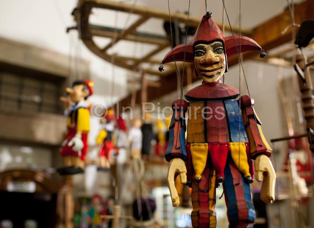 Gallery Marionettem hand made puppet shop; Prague, Czech Republic.