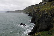 Images from Carrick a Rede rope bridge, a National Trust property that features a rope bridge that was first erected by salmon fishermen in 1755. The present bridge is replaced every 4 years.