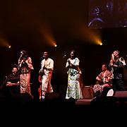 Jama Ko by Oumou Kouyate,Basel Rajoub & Amy Sacko at the Jubilee - Master Musicians of the Aga Khan Music Initiative at the Royal Albert Hall, London, UK on June 20 2018.