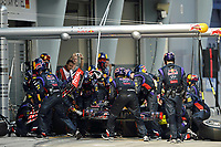 MOTORSPORT - F1 2014 - GRAND PRIX OF MALAYSIA  - SEPANG (MAL) - 28 TO 30/03/2014 - <br /> RICCIARDO DANIEL (AUS) - RED BULL RENAULT RB10 - ACTION<br /> STAND - PIT LANE - AILERON - WINGS CHANGE