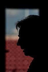 May 29, 2018 - BÅ'Stad, Sverige - 180529 Tom Prahl, bevakare i siluett under en presstrÅff med ledarstaben i Sveriges fotbollslandslag den 29 maj 2018 i BÅ'stad  (Credit Image: © Petter Arvidson/Bildbyran via ZUMA Press)