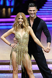 Stacey Dooley and Aljaz Skorjanec pose for photographers during a photocall before the opening night of the Strictly Come Dancing Tour 2019 at the Arena Birmingham.