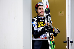 Jernej Damjan of Slovenia during Trial round of the FIS Ski Jumping World Cup event of the 58th Four Hills ski jumping tournament, on January 5, 2010 in Bischofshofen, Austria. (Photo by Vid Ponikvar / Sportida)