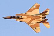 Israeli Air force Fighter jet F15I in flight.