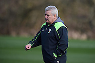 Wales head coach Warren Gatland looks on. Wales rugby team announcement and training at the Vale Resort in Hensol, near Cardiff , South Wales on Tuesday 17th March 2015. The team are preparing for their next RBS Six nations match against Italy this weekend. <br /> pic by Andrew Orchard, Andrew Orchard sports photography.