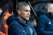 Brighton and Hove Albion manager Chris Hughton during the The FA Cup 3rd round match between Bournemouth and Brighton and Hove Albion at the Vitality Stadium, Bournemouth, England on 5 January 2019.