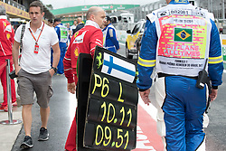 November 11, 2017 - Sao Paulo, Sao Paulo, Brazil - Preparation for the free practice for the Formula One Grand Prix of Brazil at Interlagos circuit, in Sao Paulo, Brazil. The grand prix will be celebrated next Sunday, November 12. (Credit Image: © Paulo Lopes via ZUMA Wire)