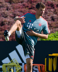 Bayern Munich's Thomas Mueller take part in the  winter training camp at the Aspire Academy of Sports Excellence in the Qatari capital Doha on January. 05, 2019. FC Bayern Munich will stay in the Doha until10 January 2019 (X?inhua/Nikku) (Credit Image: © Nikku/Xinhua via ZUMA Wire)