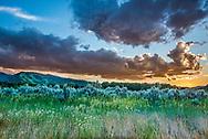 Sunset in Aspen in summer.