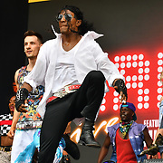 Thriller Live perfroms at West End Live 2019 in Trafalgar Square, on 22 June 2019, London, UK.