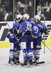 28.02.2010, Dom sportova, Zagreb, CRO, EBEL, KHL Medvescak Zagreb vs Graz 99ers, im Bild Jubel von Zagreb. EXPA Pictures © 2010, PhotoCredit: EXPA/ PIXSELL / SPORTIDA PHOTO AGENCY