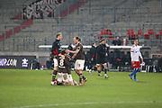 Fussball: 2. Bundesliga, FC St. Pauli - Hamburger SV, Hamburg, 01.02.2021<br /> Jubel bei St. Pauli<br /> © Torsten Helmke