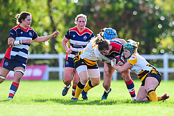 Amelia Buckland-Hurry of Bristol Ladies is tackled by Amy Cokayne of Wasps Ladies - Mandatory by-line: Craig Thomas/JMP - 28/10/2017 - RUGBY - Cleve RFC - Bristol, England - Bristol Ladies v Wasps Ladies - Tyrrells Premier 15s