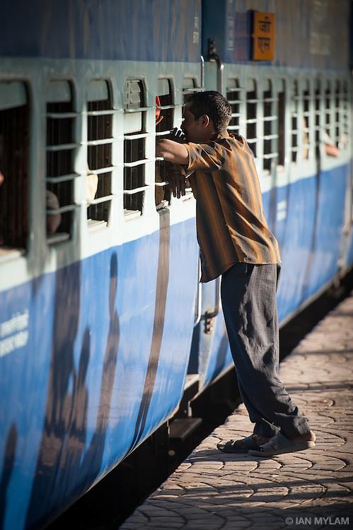 Man at Nampally Railway Station - Hyderabad, India