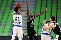 Brown  Anthony of Boulogne Metropolitans 92 vs Thomas  Rashawn of Partizan NIS during basketball match between KK Partizan NIS Belgrade (SRB) and Boulogne Metropolitans 92 (FRA) in Top 16 Round 6 of 7DAYS Eurocup 2020/21, on March 10, 2021 in Arena Stozice, Ljubljana, Slovenia. Photo by Vid Ponikvar / Sportida