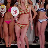 Viktoria Vecsei participates the Miss Hungary beauty contest held in Budapest, Hungary on December 29, 2011. ATTILA VOLGYI