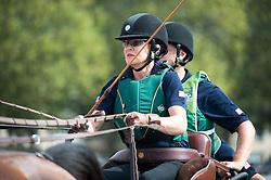 Misdee Wrigley Miller, (USA), Agusstos Armoei, Beau, Carlos, Clemens, Saco - Driving Marathon - Alltech FEI World Equestrian Games™ 2014 - Normandy, France.<br /> © Hippo Foto Team - Becky Stroud<br /> 06/09/2014