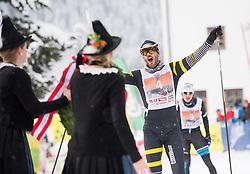 21.01.2018, Loipe Obertilliach, AUT, 44. Dolomitenlauf, Freestyle, im Bild Gewinner Adrien Mougel (FRA, 42km) // Winner Adrien Mougel of France (42km run) during the 44th Dolomitenlauf Freestyle race at Obertilliach, Austria on 2018/01/21, EXPA Pictures © 2018 PhotoCredit: EXPA/ Michael Gruber