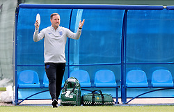 England first team coach Steve Holland during the training session at the Spartak Zelenogorsk Stadium, Repino.