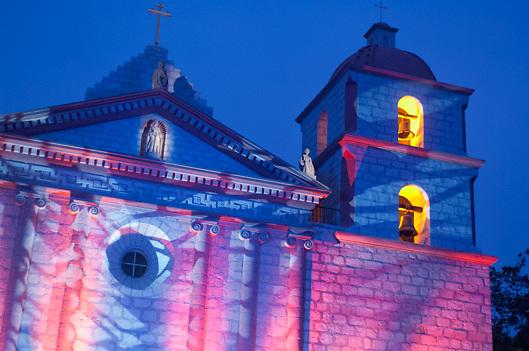 Historic Santa Barbara Mission at Fiesta